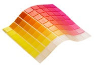 One of the six new rubber-like Tango color palettes, enabling diverse transparent to opaque colors with additional new Shore A Values, combining various degrees of flexibility & color translucency in one print job*