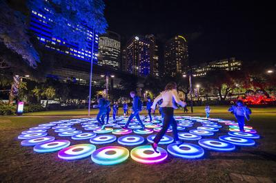 Vivid Sydney delights with The Pool interactive light installation