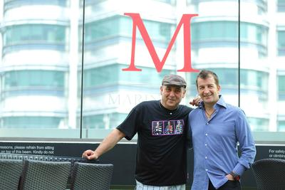 From Left to Right, Jose Padilla and Modesto Marini at Marini's on 57, during the album launch in Kuala Lumpur, Malaysia