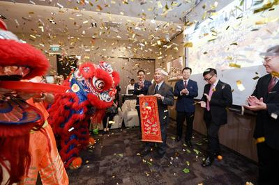 Opening launch celebrated and blessed by auspicious lions