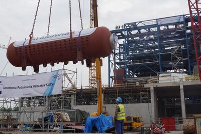 POSCO E&C Holds Ceremony for Completing the Boiler Drum of Poland's First Incineration Plant