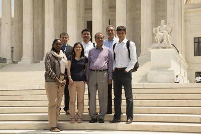 @WashULaw students in front of the Capitol building in Washington, D.C.