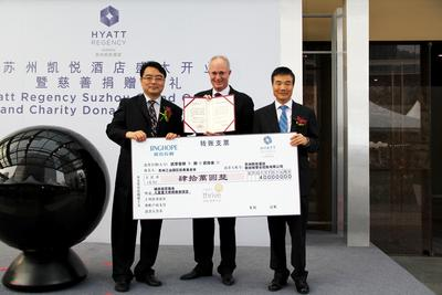 Charity Donation from Hyatt Regency Suzhou and Jinghope, the owning company of the hotel