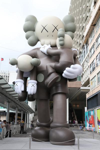 KAWS present his latest sculpture in an exhibition entitled KAWS CLEAN SLATE