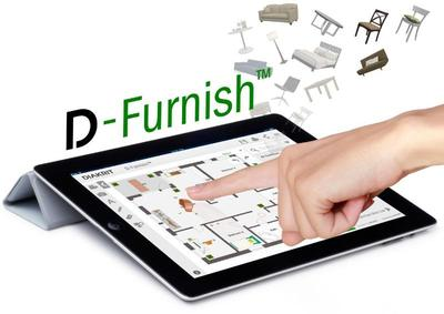 D-Furnish is a patent pending, mobile-compatible online software that considerably enhances a property's potential by allowing clients to envision their perfect living space.