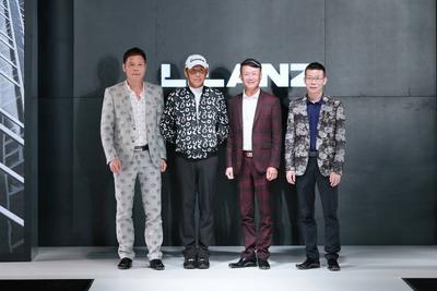 "(From the Left) Mr. Wang Liang Xing, Vice Chairman, CEO and Executive Director, Mr. Chen Dao Ming, spokesman of ""LILANZ,"" Mr. Wang Dong Xing, Chairman and Executive Director and Mr. Wong Cong Xing, Vice Chairman and Executive Director took a picture together on stage."