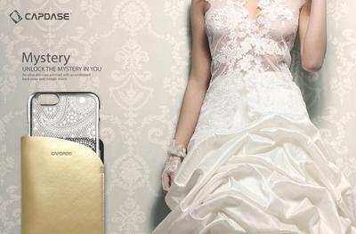 Capdase's ultra-slim Mystery case comes in a transparent back cover adorned with an enchanting embossed pattern to showcase the elegance of every woman.