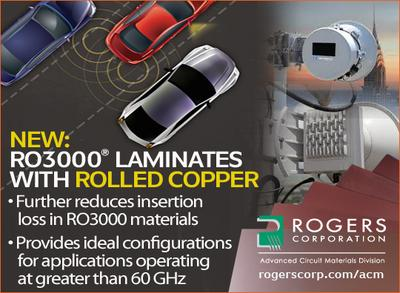 Rogers RO3000(R) Laminates with rolled copper