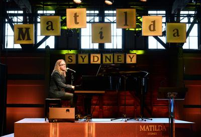 Matilda's Composer and Lyricist, Tim Minchin, performing at the launch of the Australian Premiere season of Matilda The Musical in Sydney. Credit: James Morgan_Matilda The Musical_Destination NSW