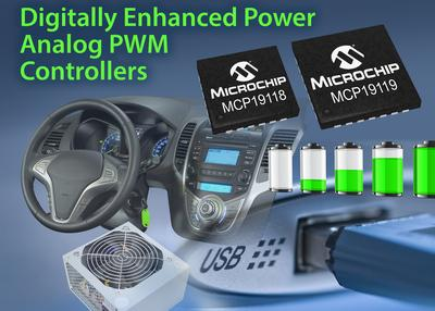 Microchip Digitally Enhanced Power Analog PWM Controllers