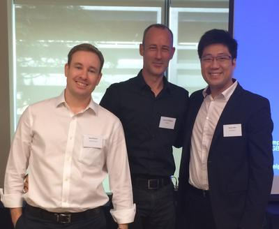 Speakers of the event (Left to Right): Neal Moore, John O'Callaghan and Royce Shih