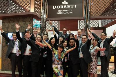 Picture shows Philip Schaetz, Senior Vice President of Sales & Marketing (back row in blue chequered shirt) together with his fantastic Sales & Marketing Team from the various hotels under Dorsett's portfolio from mainland China, Malaysia, Singapore, Hong Kong to London at the recently concluded ITB Asia 2014.
