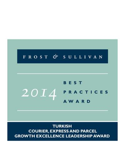 2014 Turkish Courier, Express and Parcel Growth Excellence Leadership Award