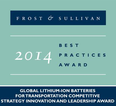 2014 Global Lithium-ion Batteries for Transportation Competitive Strategy Innovation and Leadership Award
