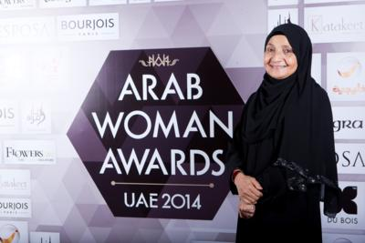 Fragrance Du Bois presented a special fragrance set to Dr Shaikha Al Maskari in recognition of her outstanding contribution to society and receiving the Businesswoman of the Year award