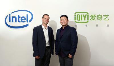 iQIYI's Chief Technology Officer Mr. Xing Tang and Intel's General Manager of Consumption Sales Mr. Douglas Cougle