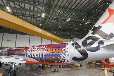 Jetstar A320 plane sports new look with the launch of Asia's Got Talent
