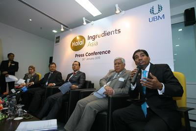 UBM Asia Managing Director (ASEAN Business), Mr M. Gandhi sharing his thoughts at the Halal Ingredients Asia 2015 press conference