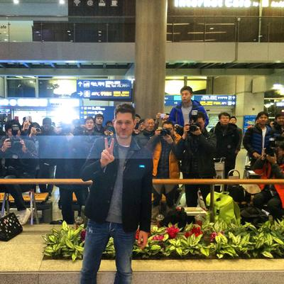 MICHAEL BUBLE arrives in Seoul
