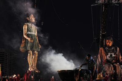 During a smoking ceremony by the Noongar people, the Giants' faces were painted as part of a traditional welcome.