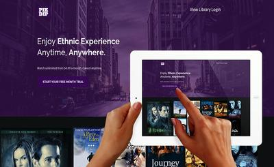 Pikdip interface screenshot - A new Ethnic video streaming service