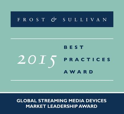 Roku is recognized with the 2015 Global Streaming Media Devices Market Leadership Award