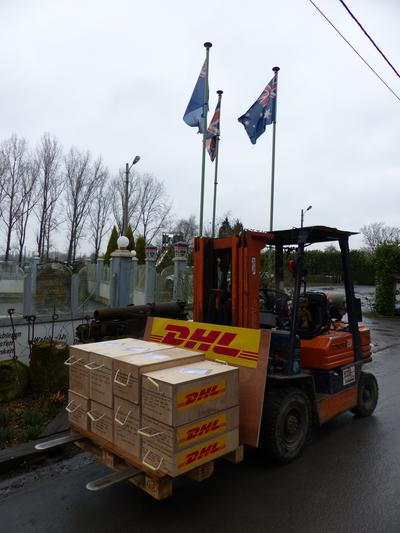 Delivering Historic Ammunition Shells for ANZAC Centennial