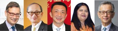 (From left) James Courage, Chairman of the Responsible Jewellery Council; Albert Cheng, Managing Director of the World Gold Council, Far East; Lin Qiang, President and Managing Director of the Shanghai Diamond Exchange; Nirupa Bhatt, Managing Director of GIA India and the Middle East; and Yasukazu Suwa, Chairman of Suwa & Son, Inc