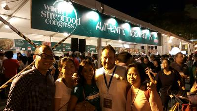 International chef acknowledged the richness of Indonesia's food culture represented in World Street Food Congress