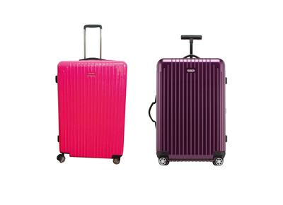 The lawsuit concerned the suitcase model shown (compared to the original, right)