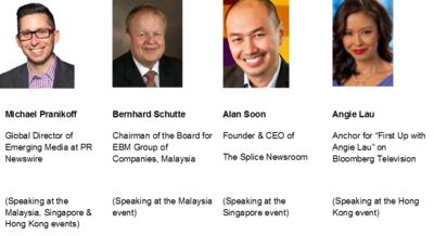 Speakers for the media coffee events