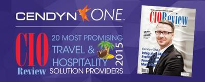 """Cendyn/ONE(TM) named by CIO Review as one of the '20 Most Promising Travel & Hospitality Solution Providers' for 2015. Special edition cover story explains how Data Intelligence(TM) is shaping the industry! """"We are extremely proud of this recognition,"""" said Tim Sullivan, President of Cendyn/ONE."""