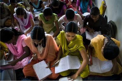 Scholars of Room to Read's Girls' Education Program in India. Photo Credit: Paulette Waltz