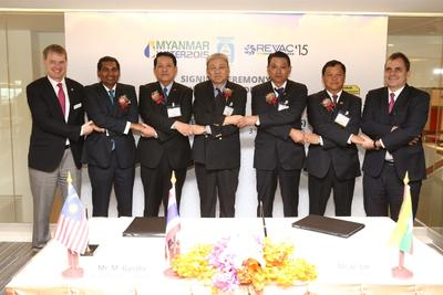 MOU Signing Ceremony between UBM Asia & Myanmar Engineering Society (MES)