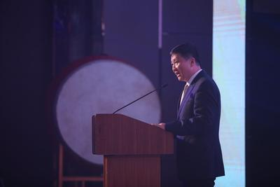 Mr. Qian Jin, President of Wanda Hotels & Resorts gave the speech.