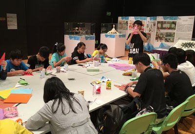 "Y Loft has been arranging different arts and culture activities for young visitors, like ""One Piece Uncut"" Origami Art Workshop."