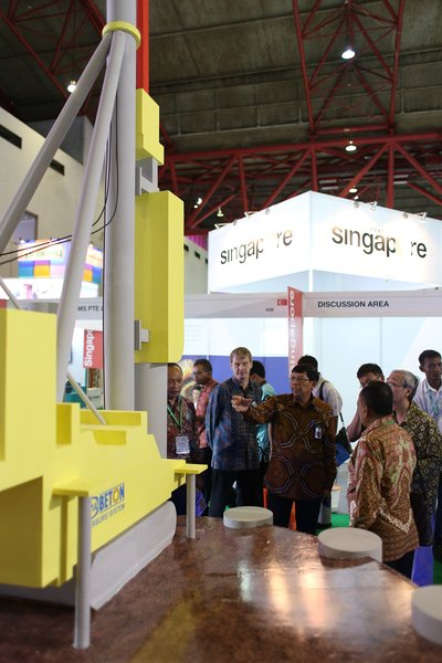 Director General of Highways Ministry of Public Works and Housing Republic of Indonesia visiting Concrete Show South East Asia 2015