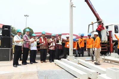 Secretary General Ministry of Public Works and Housing Republic of Indonesia in the Opening Ceremony of Concrete Show South East Asia 2015