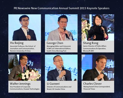 Keynote Speakers for PR Newswire 2015 New Communication Annual Summit