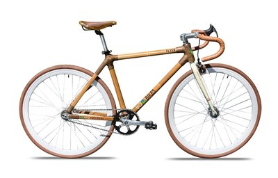 One of Asia Plantation Capital's eco-friendly products – the APC 'Boo Bike', made entirely from bamboo and other sustainable materials.