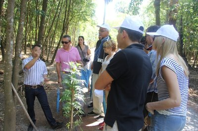 Group of European clients on an Asia Plantation Capital plantation tour in Thailand.