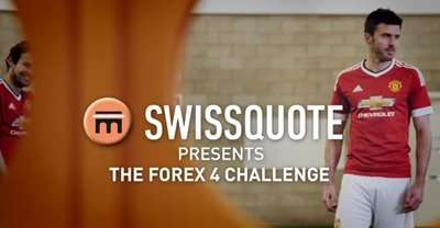 Manchester United Stars Take on the Swissquote Forex Four Challenge
