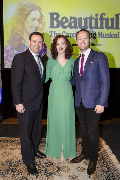 Minister Ayres, Rebecca LaChance and Michael Cassel Beautiful: The Carole King Musical