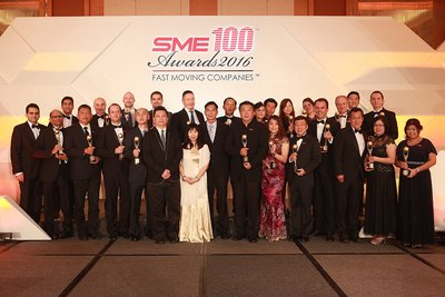 Featured Winners of the SME100 Awards Singapore Chapter at Marina Bay Sands