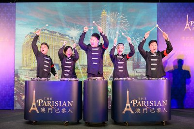 Eiffel Tower of The Parisian Macao is Illuminated at Sands Resorts Cotai Strip Macao
