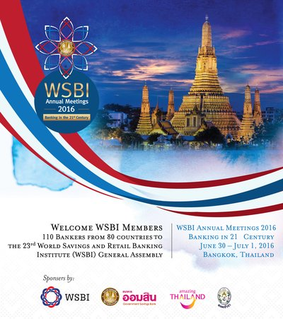 The 23rd World Savings and Retail Banking Institute (WSBI) Annual Meetings