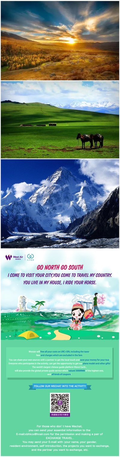 GO NORTH GO SOUTH: Travel Exchange, Live Younger in Another Way