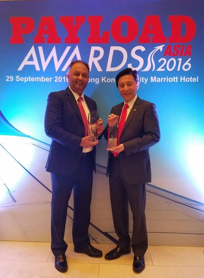 [L-R] Tony Khan, General Manager, Central Asia Hub, DHL Aviation Hong Kong and Herbert Vongpusanachai, Senior Vice President & Managing Director, DHL Express Hong Kong & Macau.