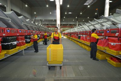 Automated Flyer Sorter at DHL South Asia Hub