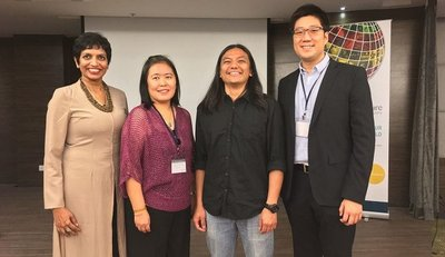 From left to right: Eswari Lawson, Ivlynn Yap, Zan Azlee and moderator Royce Shih.